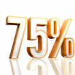 75 Percent — Stock Photo