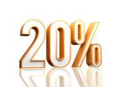 20 per cento — Foto Stock