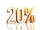 20 procent — Stockfoto