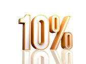 10 Percent — Stock Photo