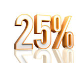 25 Percent — Stock Photo