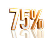 75 procent — Stockfoto