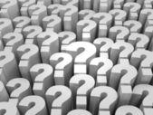 Veel vragen — Stockfoto
