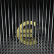 Euro Behind Bars — Stock Photo