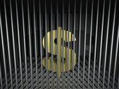 доллар за решеткой — Стоковое фото