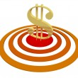 Dollar on Target — Stock Photo