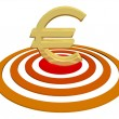 Euro on Target — Stock Photo