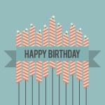Retro Birthday Wish — Stock Vector