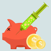 Money Injection — Stock Vector