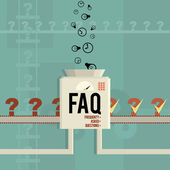 FAQ Machine — Vettoriale Stock
