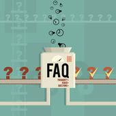 Máquina faq — Vector de stock