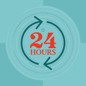 24 Hours — Stock Vector