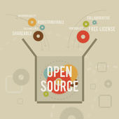 Open Source — Stock Vector