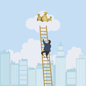 Scaling Ladder to the Money — Stock Vector