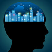 City of Ideas — Stock Vector