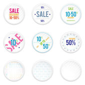 Sale White Shadowy Labels — 图库矢量图片