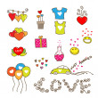 Cute Hearts of Love — Stock Vector