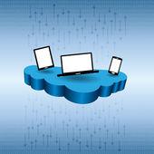 Cloud Data Stream — Stock Vector