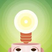 The Idea — Stock Vector
