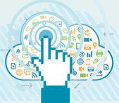 Chmura dostępu użytkownika — Wektor stockowy