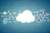 Cloud Life — Stock Vector