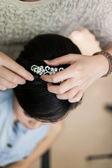Umístění příslušenství vlasy — Stock fotografie