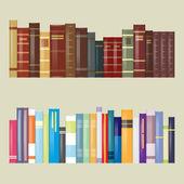 Flat Filtered Design Books — Stock Vector