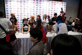 Japan Anime Stars at Autograph Session in Anime Festival Asia - — Stock Photo