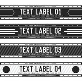 Tekst etykiety transparent tło — Wektor stockowy