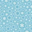 Seamless Snowflake Pattern Background — Stock Vector