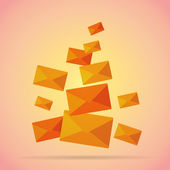 Bunch of Mails — Stock Vector