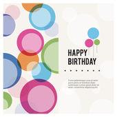 Happy Birthday Color Wish — Stock Vector