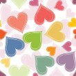 Colorful Paired Hearts Background — Stock Vector