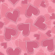 Pink Paired Hearts Background — Stock Vector