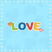 Colorful I Love You — Stock Vector