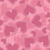 Pink Paired Hearts Background — Vector de stock