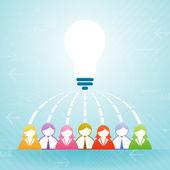 Team Idea Collaboration — Stock Vector