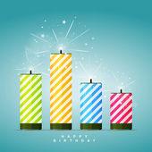 Birthday Firecrackers — Vector de stock