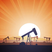 Oil Field — Stock Vector