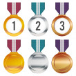 Stock Vector: Medals