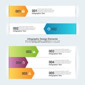 Arrow Infographic Elements — Vettoriale Stock