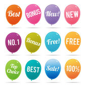 Balloon Online Marketing Tags — Stock vektor