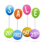 Sale Balloon Tags — Stock Vector