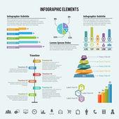 éléments de l'infographie — Vecteur