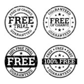 Free Trial Black and White Stamps — Stock Vector
