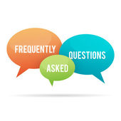 Frequently Asked Questions Talk Bubble — Stock Vector