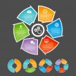 Circling Arrow Infographic Element Set — Stock vektor
