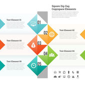 Square Zig Zag Copyspace Design Element — Vetorial Stock