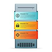 Server Computer Copyspace Design Element — Stock Vector