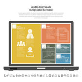 Laptop Copyspace Infographic Element — Stock Vector